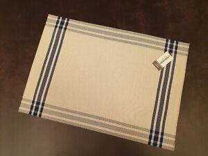 KITCHEN PLACEMATS VINYL BLUE 45cm x 31cm CREATIVE TOPS - multilisting