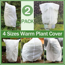2x Fabric Warm Plant Cover Garden Tree Shrub Winter Anti Frost Protection Bag