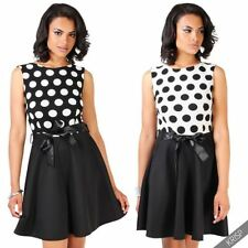 Polyester Polka Dot Machine Washable Casual Dresses for Women