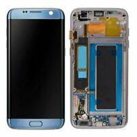 For Samsung Galaxy S7 Edge G935F LCD Touch Screen Digitizer Frame Coral Blue