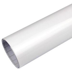 9,8€/m² Autofolie Hochglanz weiß GLANZ Blasenfrei Luftkanal Folie glänzend