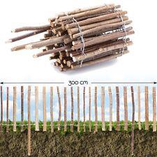 Steckzaun Haselnuss Rinde Beet Einfassung Roll Garten Holz Teich Zaun Pfosten
