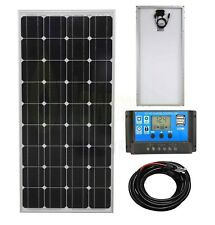 100w Mono Solar Panel Battery Charging Kit Charge Controller Boat Caravan HomeK1