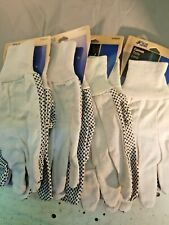 Brand new, LOT OF 4 Pair Blue Hawk Canvas Work Gloves Large (5.3)