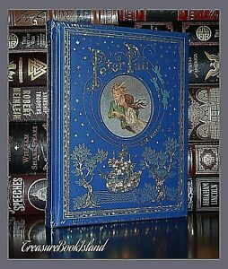 New Peter Pan by Barrie Illustrated Sealed Leather Bound Collectible Hardcover