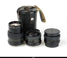 Lens  Zeiss Jena Prakticar 2,4/35mm 1,4/50mm 3,5/135mm for PrakticA BMC
