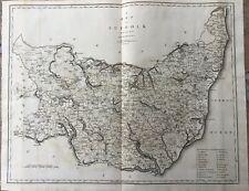 """1805 Large John Cary Map - COUNTY OF SUFFOLK, ENGLAND - Camden's """"Britannia"""""""