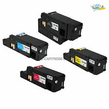 4PK New Dell 1660 High Yield Toner For Dell C1660 C1660W C1660CNW Printer