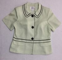 FANNY Collection Women's Top size L Green Office Career Ladies Blouse Jacket