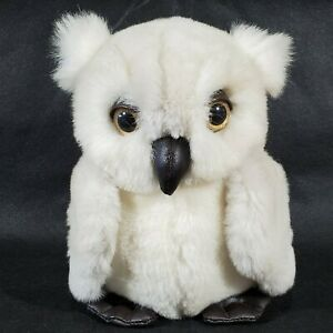 """Vintage 24K Polar Puff Hoot Owl Plush 1987 Made in USA 7"""" Tall 5"""" Wide"""