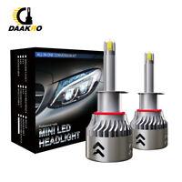 2* 8Side CSP H1 LED Headlight Bulbs Kits 110W 19600LM Super Mini Fog Lamp 6000K