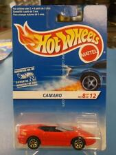 1996 Hot Wheels Camaro #8/12 In Red With Gold 7 Spokes. Canadian Card