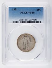 1921 25C Standing Liberty Quarter Graded by PCGS as VF30! Nice Silver Coin!