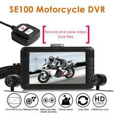 SE100 FHD 1080p Moto DVR Tiret Cam avant + Arrière Vue Moto Caméra NI5L