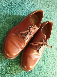 MENS VINTAGE LOTUS MADE IN ENGLAND TAN LEATHER DERBY SHOES UK 6.5