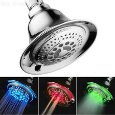 Color Changing Shower Head Water Temperature Controlled LED Lighted Shower Head