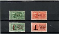 REPUBBLICA SOCIALE 1944-QUATTRO ESPRESSI EMESSI-N°19-20-21-22-MNH**GOMMA INTEGRA