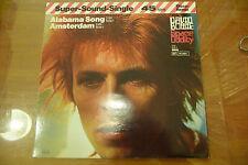 "DAVID BOWIE""ALABAMA SONG/AMSTERDAM-disco 45 giri REMIX RCA Ger 1982"""
