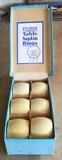 Bakelite Xylonite Table Napkin Rings Vintage 1940s British Made In Original Box
