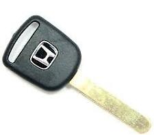 New Transponder Chipped Ignition Replacement Key Blade Uncut For Honda HO01PT