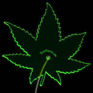 SunForm-Sonnenfänger, das leuchtende Cannabis-Blatt für's Fenster, 15x16cm