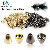Maxcatch 25Pcs/lot Tungsten Fly Tying Cross Eyed Cone Head Black Nickel/Gold