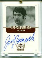 JOE NAMATH 1999 UD Upper Deck Century Legends Epic Signatures Auto Autograph SP