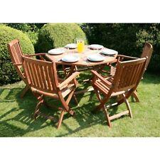 Arredo per esterno con tavolo 4 sedie in legno ripieghevoli giardino piscina|155