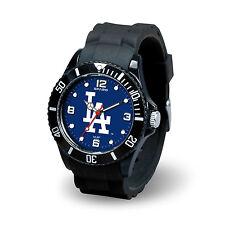 Los Angeles Dodgers Licensed Baseball Team Men's Black Sparo Spirit Watch