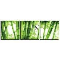 Green Bamboo Forest Painting 3 pcs HD Art Poster Wall Home Decor Canvas Print