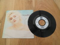 """MADONNA 7"""" Vinyl Record THE LOOK OF LOVE rare SILVER label PICTURE SLEEVE 45rpm"""