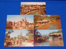 Vintage Disneyland Postcard Lot Sleeping Beauty Castle Boat Ride Casey Jr Train