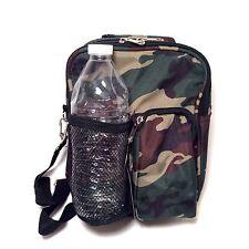 Camo Print Cross Body Daypack (7-inch) Purse Lunch & Accessory Bag