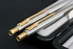New 14K Gold Parker Classic Stainless Steel Vintage set with Gift Pen