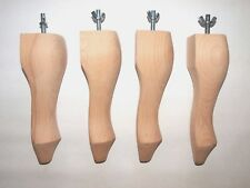8'' Queen Anne Furniture Legs Foot Stool For Sofas, Beds, Armchairs Set Of 4