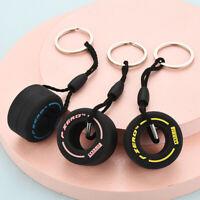 Cartoon Small Tire Keychain Creative Unisex Car Bag Pendant Keyring Key Chain