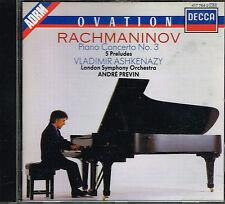CD album: Rachmaninov. Vladimir Ashkenazy - André Prévin. decca. C1.
