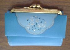 Vintage Buxton Wallet Ladies Blue Leather 1950's in very good condition