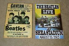 "2 THE BEATLES 11 1/4"" X 8.5"" Retro Metal Concert Poster Sign Plaque Wall Art Pic"