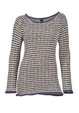 Gestreifte Feine Damen-Pullover & Strickware mit Taillenlang und Baumwollmischung