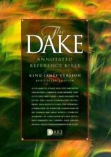 KJV DAKE ANNOTATED REFERENCE BIBLE, BONDED LEATHER, BLACK NEW in plastic wrap