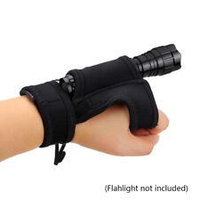 Nylon Flashlight Holster Torch Lamp Wrist Holder Portable Carrier Storage Bag