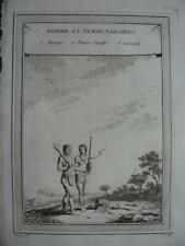 1759 - PREVOST VOYAGES - WEST INDIES Engraving CARIBBEAN MAN & WOMAN