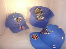 ST. LOUIS BLUES ROYL BLUE COMPETITOR NHL CENTER ICE ONE SIZE ADJUSTABLE HAT CAP