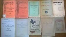 Stock 10 libretti musicali teatrali antichi fine '800, primi '900