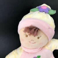 "Russ Plush Baby Lovey Rattle Doll Stuffed Angel Toy 11"" Lovie Security Flower"