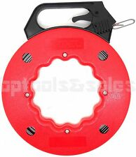 50 ft Steel Cable Fish Tape Electric Wire Cable Line Puller in High Plastic Case