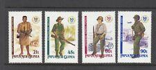 PAPUA NEW GUINEA: 1992 50th Anniversary WWII set of 4 SG 671/4 MUH.