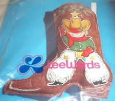 Cowboy Christmas Boot Stocking Ball Point Fabric Paint Kit Painting Holiday Boy