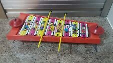 RARE Vintage Disney Xylophone Musical Instrument Toy with 2 Sticks Chad Valley
